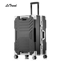 Letrend Nieuwe 24 29 Inch Aluminium Frame Rolling Bagage Trolley Reistas 20 inch Vrouwen Mannen Boardingtas Carry Op Koffers kofferbak