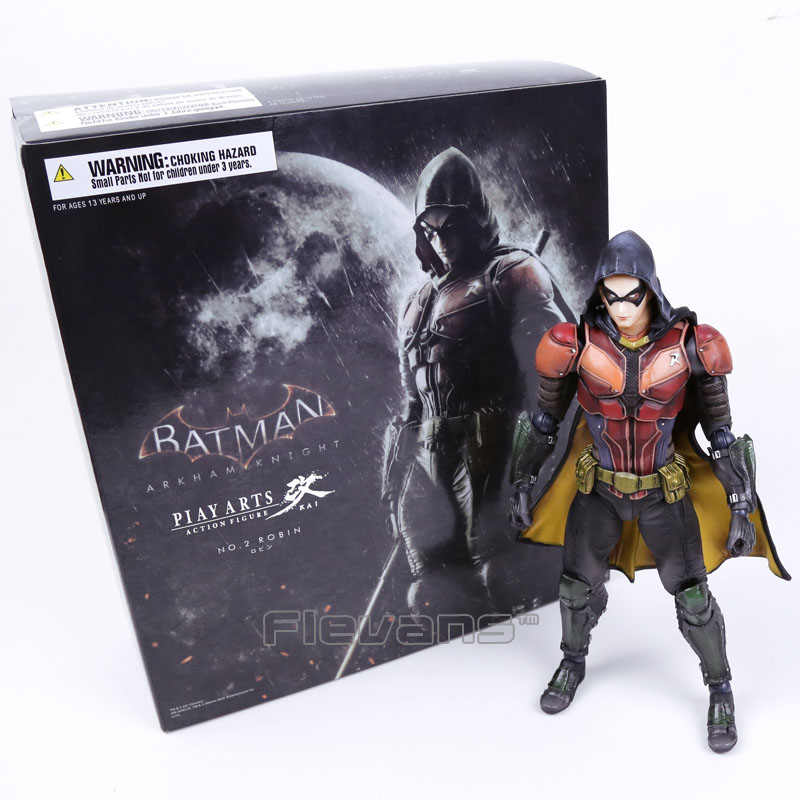 Playarts KAI Batman Arkham Knight NO.2 Robin PVC Action Figure Collectible Model Toy 25cm new high quality 0 4mm 3 2mm 150pcs set mini twist drill bit kit hss micro precision twist drill with carry case drilling tool