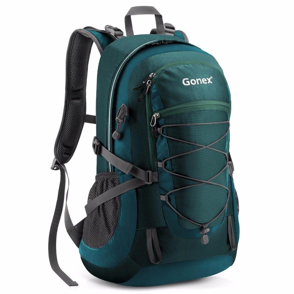 Gonex 35L sac à dos randonnée Camping extérieur Trekking sac à dos housse de pluie incluse Nylon résistant à l'eau
