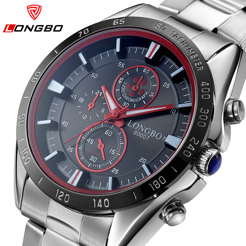 LONGBO Brand Luxury Men Watches Men Casual Quartz Watch Stainless Steel Waterproof Business Men Watch Relogio Masculino LB80007