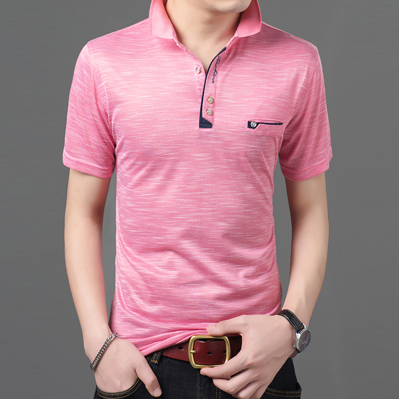 2019 New Fashions Brand Clothing Summer   Polo   Shirt Men's Top Grade Slim Fit Short Sleeve Solid Color   Polos   Casual Mens Clothing