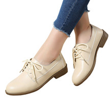 a1dc538ac0481 Women Derby Shoes Women's Leather Shoes Spring Autumn Lace Up Concise  Causal Flat Shoes Woman Flats