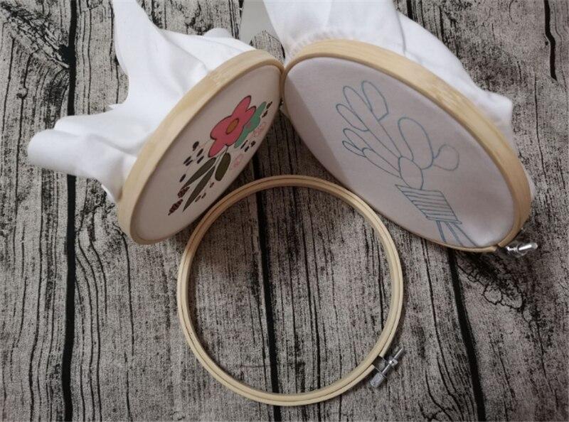 1 шт. 10-20 см деревянная удобная машина для вышивки крестом пяльцы для вышивания кольцо бамбуковая рамка пяльцы для вышивания круглые инструменты для шитья