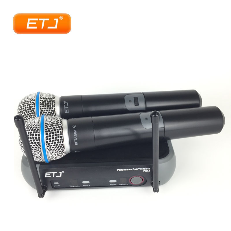 2 Channels Double Handheld Wireless Microphone Professional Karaoke PGX2422 Channels Double Handheld Wireless Microphone Professional Karaoke PGX242