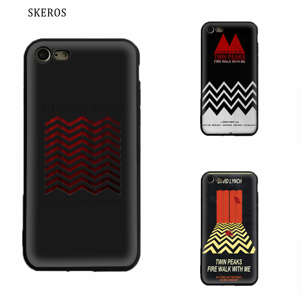 SKEROS Twin Peaks Fire Walk With Me Silicone Phone Soft For Apple Iphone X 5 5S Se 6 6S 7 8 6 Plus 6S Plus 7 Plus 8 Plus #ua670