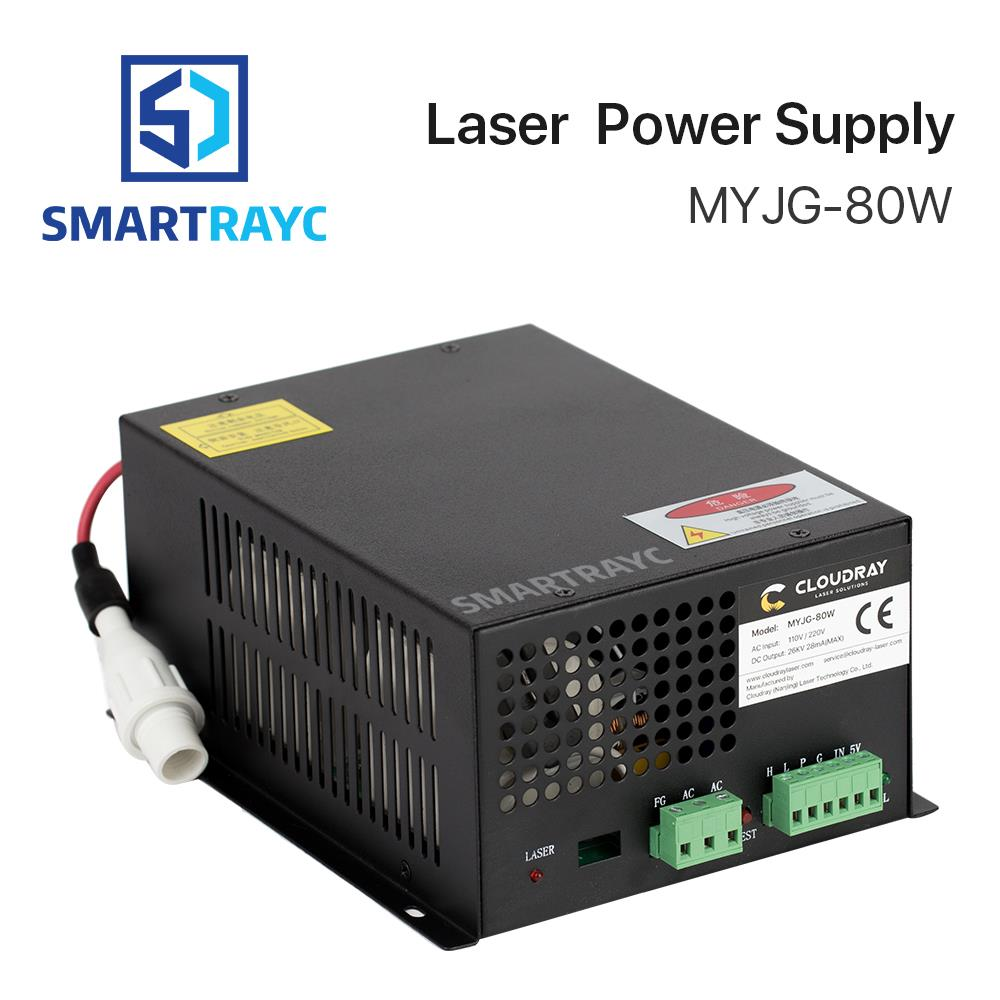 Smartrayc 80W CO2 Laser Power Supply for CO2 Laser Engraving Cutting Machine MYJG-80W co2 laser machine laser path size 1200 600mm 1200 800mm