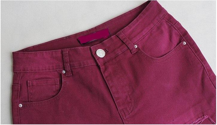 Parches Wine Vaqueros Rasgados 2107 Para Catonatoz Lápiz Desgastados Mujer Nuevos Red Elásticos Pantalones Skinny Con Denim ZFwXqw