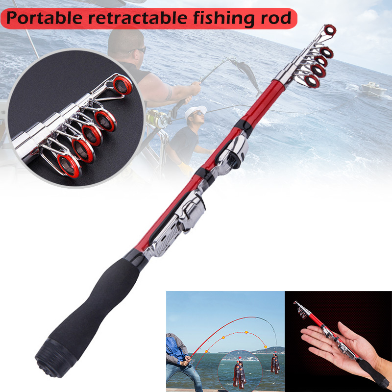 Portable Telescopic Fishing Pole Small Size Hard Fishing Rod for Sea Lake DX88(China)