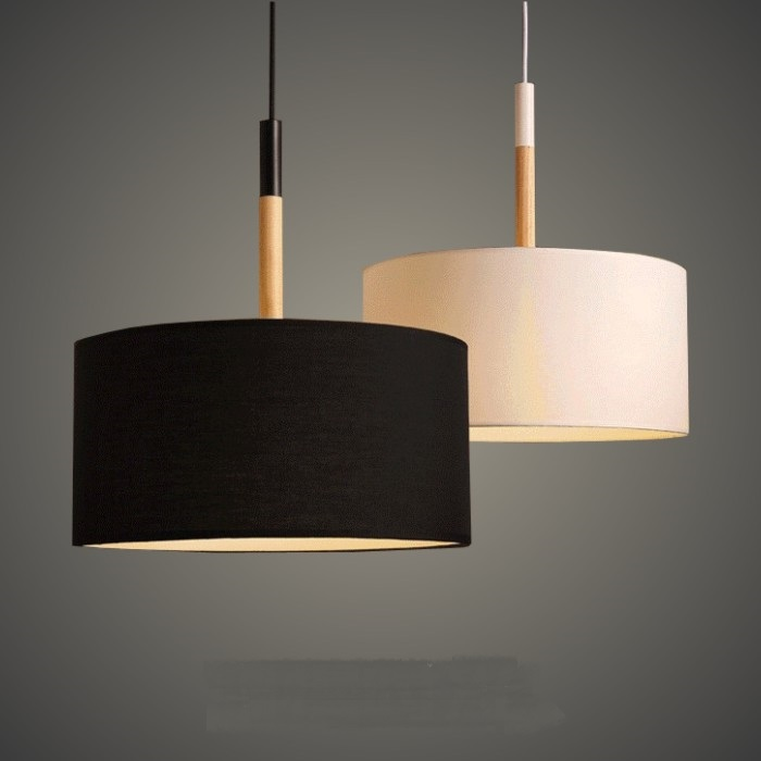 Nordic cloth pendant lights modern living room dining room study bedroom warm single head white black pendant lamps ZA single head small bar of korean modern minimalist iron pendant lamps dining room pendant light the living room kitchen