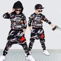 244 High quality 2018 autumn winter fashion black red T shirt+pants children set kid suit girl boy clothing set for 4 14 years