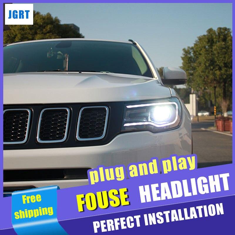 Style de voiture pour Jeep compas phares assemblage 2017-2018 pour boussole LED xénon H7 avec hid kit 2 pièces. - 2