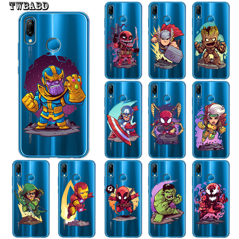 Honest Marvel Avengers Luxury Iron Man Thanos Case For Huawei P30 Lite P30 Pro P20 Lite P10 Lite P10 P8lite P9lite 2017 P Smart Capa Clear-Cut Texture Back To Search Resultshome