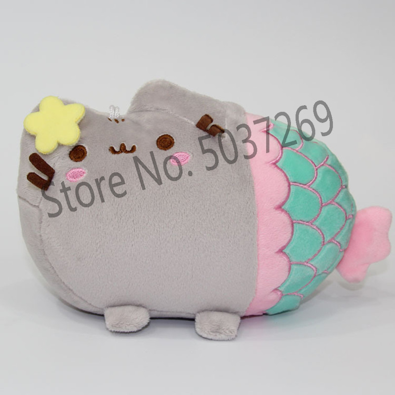 19 13cm Cute Cat Plush Toy Animal Smile Fat Cat Mini Mermaid Stuffed Plush Doll For Children Kids Birthday Best Gift in Stuffed Plush Animals from Toys Hobbies