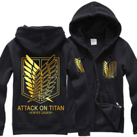 Attack On Titan Jacket Costumes Shingeki No Kyojin Hoodies Gloden Wings Of Liberty Women Man Coat