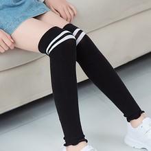 Lovely Children Princess Cute Ruffle Cartoon Stripes Comfortable Tube Length Anti-slip Casual Socks 1-10Y