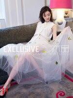Элитный бренд Летняя женская одежда модные белые галстуки бабочки для костюма рубашка без рукавов стрейч шорты сетки лодыжки юбка для дево