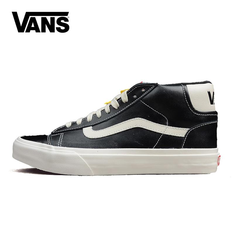 Original Vans High-Top Women's Winter Shoes Sport Shoes Canvas Shoes Warm Sneaker