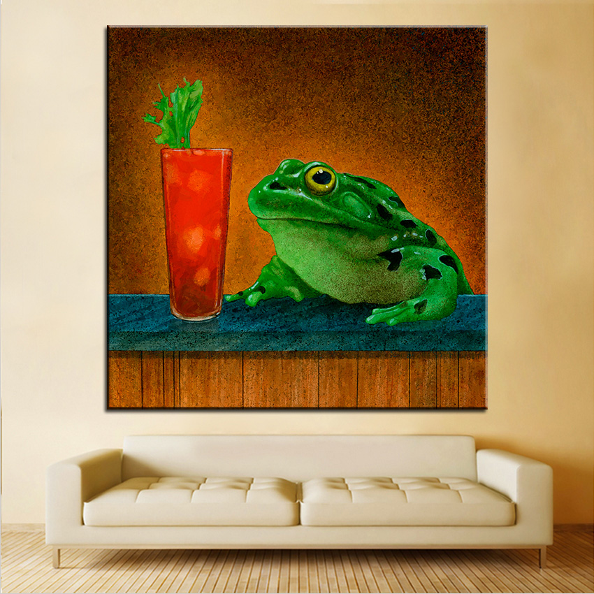 Large Size Printing Oil Painting Hair Of The Frog Wall Painting Wall