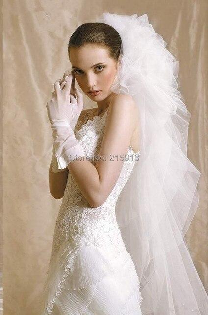 2016 Best sale fashion bridal veils Strong brides veils soft  tulle wedding veils