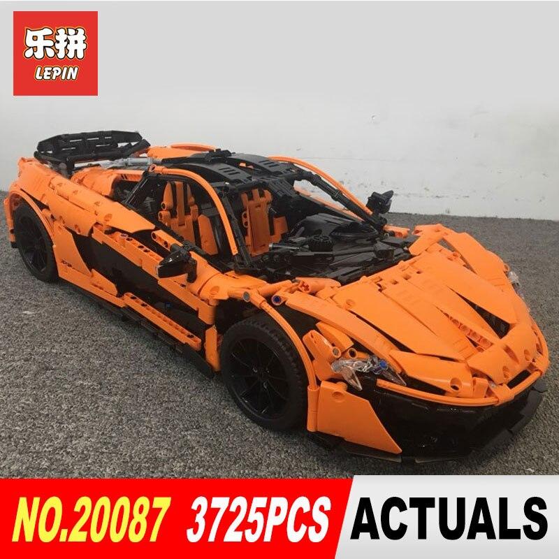 DHL Лепин 20087 технические игрушки в MOC 16915 оранжевый Супер гоночный автомобиль набор строительных блоков Кирпичи собраны DIY рождественские по