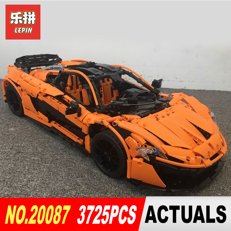 DHL Lepin 20087 Technic Toys The MOC-16915 Orange Super Racing Car Set Building Blocks Bricks Assembled DIY Christmas Gifts
