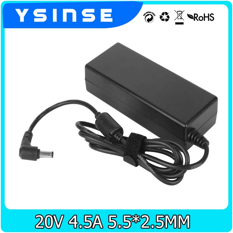 20V 4.5A 90W AC Power Supply Adapter Laptop Charger For Lenovo G480 G485 G560 G560e G565 G570 G575 G580 G585 G780 G505 Z510 Z570 20v 6 75a 135w original ac adapter charger laptop power supply for lenovo thinkpad t530 t520 w530 w520 w510 3pin 45n0059 45n0055