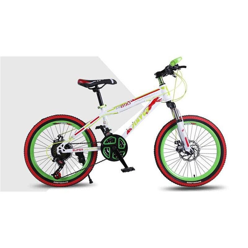 Estudante das Crianças Freios a Disco Portátil das Crianças Estudante com Pedal Deslocando Duplo Mountain Bike Bicicleta