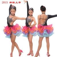 2016 Professional Children Latin Dance Rhinestone Dress