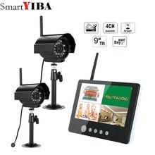 SmartYIBA 2 шт. цифровой камера с 9 «ЖК дисплей Мониторы DVR беспроводной комплект домашнего видеонаблюдения безопасности системы