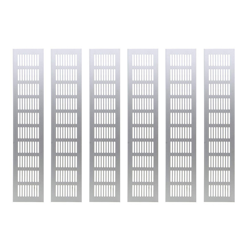1/3/6pc Bathroom Door Air Vent Grille 4size Ventilation Cover Metal Air Vent Grille For Wardrobe Shoes Cabinet Rectangle Vention