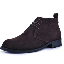 2017 New Arrival Men Boots male fashion casual genuine leather ankle boots flat shoes wearable high quality A695