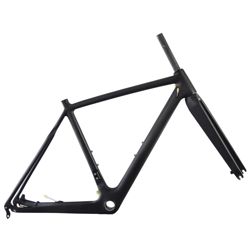 Direct Mount Carbon Bicycle Cross Frame, Cyclocross Frame BB86/BSA/PF30 And DI2 Compatible With 2 Years Warranty