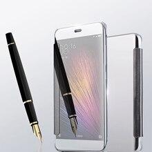 Для Xiaomi Mi5 Крышки Случая Xiaomi Mi5 Роскошные Зеркало PU кожа Смарт Флип Чехол для Xiaomi Mi 5 Падение доставка