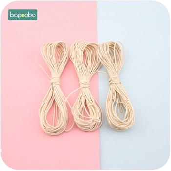 Bopoobo Baby gryzak akcesoria DIY lina 5 nici woskowane skręcone woskowane sznurek bawełniany sznurek nici linia 1mm 25 metrów lina nylonowa tanie i dobre opinie Pojedyncze załadowany BPA za darmo Waxed ROUND 10-12 miesięcy