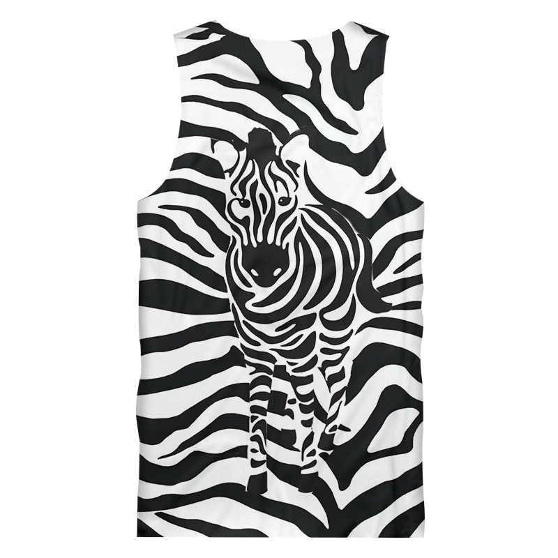 OGKB 3D Майки Мужские Модные леопардовые жилеты с принтом зебры в полоску Хип-хоп одежда больших размеров мужская летняя рубашка без рукавов 5XL