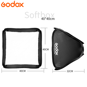 Image 3 - Godox Light Softbox 40*40 cm reflektor dyfuzora miękkie pudełko do lampy błyskowej pasuje do wspornika typu S fotografia wideo Studio akcesoria