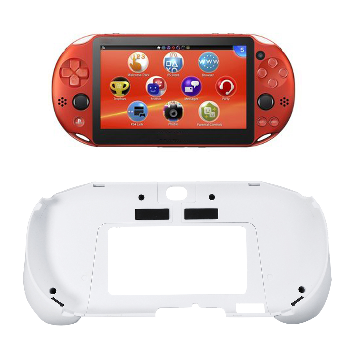New Upgrade Version L2 R2 Handle Grip Case Cover Protector Trigger Grips Handle Holder Case For PS Vita 2000 GamePads Cases
