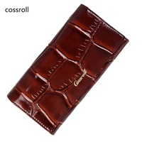 New Real Leather Women Wallets Long Wallets Famous Designer Genuine Leather Purse High Quality Brand Clutch