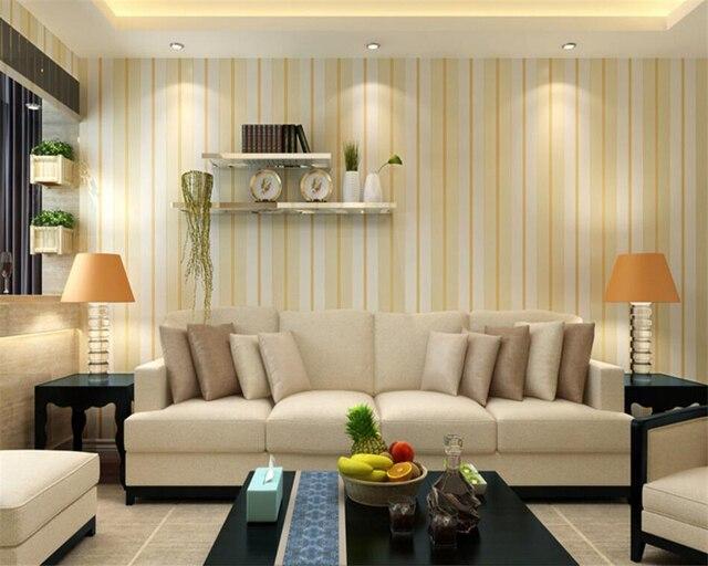 Beibehang Vertikale Gestreifte Tapete 3d Wohnzimmer Esszimmer Volle