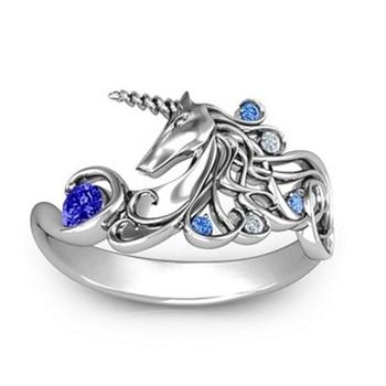 Creative Unicorn Engagement Rings for Women
