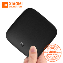 Глобальная версия Сяо Mi Ми Box 3 Android ТВ коробка 4 К 60fps Amlogic Quad Core Сяо Mi TV коробка 3 Cortex-A53 Мали-450 2 ГБ 2.4/5 г WI-FI
