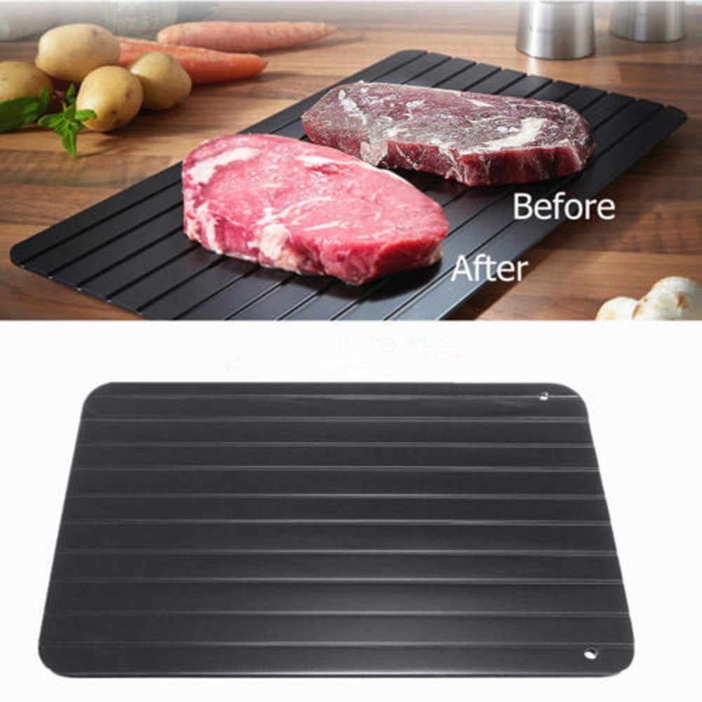 Meijuner Fast Defrosting Tray Thaw Frozen Food Meat Fruit Quick Defrosting Plate Board Defrost Kitchen Gadget Tool 14