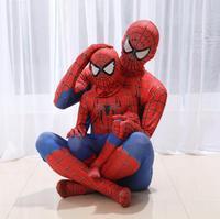 Бесплатная доставка, костюм Человека-паука «Человек-паук», нарядное платье, костюм для взрослых и детей на Хэллоуин, красный, черный, спанде...