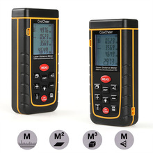 On sale Laser Distance Meter Portable Handheld Range Finder Area/Distance/Volume//Pythagoras Calculation 0.05 to 40m/60m/80m/100m
