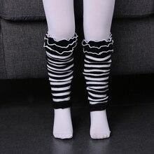 1 пара новая мода Дети Детские Обувь для девочек в полоску и горошек Носки для девочек гетры для малышей носок красный/зеленый/черный/розовый Kneepad плотно