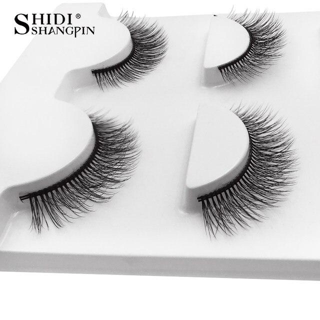 Online Shop New 3 Pairs Mink Eyelashes Natural False Eyelashes 3d
