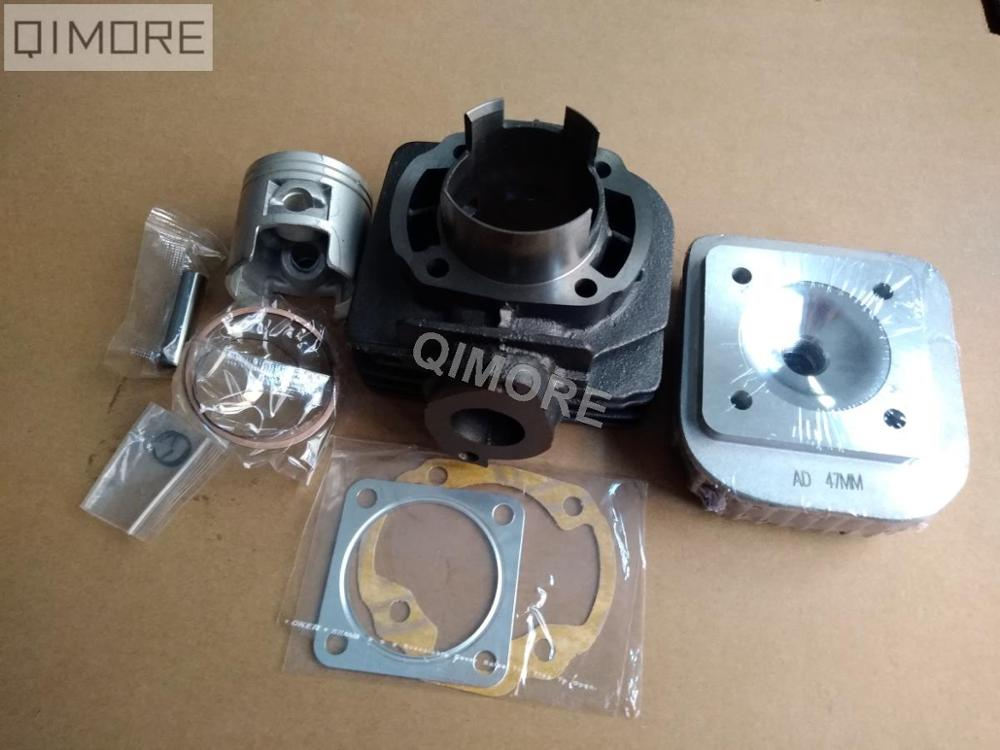 47mm big bore kit / Cylinder Piston Set with 47mm cylinder head for Scooter Moped Suzuki AD50 Address 50 AG50  ZZ50 SF50