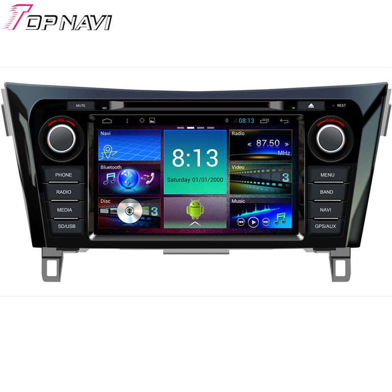 Top 8'' Quad Core Android 4.4 Car GPS For Nissan X-Trail With DVD Radio Stereo Map Wifi BT Mirror Link 16GB Flash Free Shipping