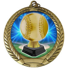 low price Custom medal new  Baseball Trophy Medal Ribbon High quality metal FH810176
