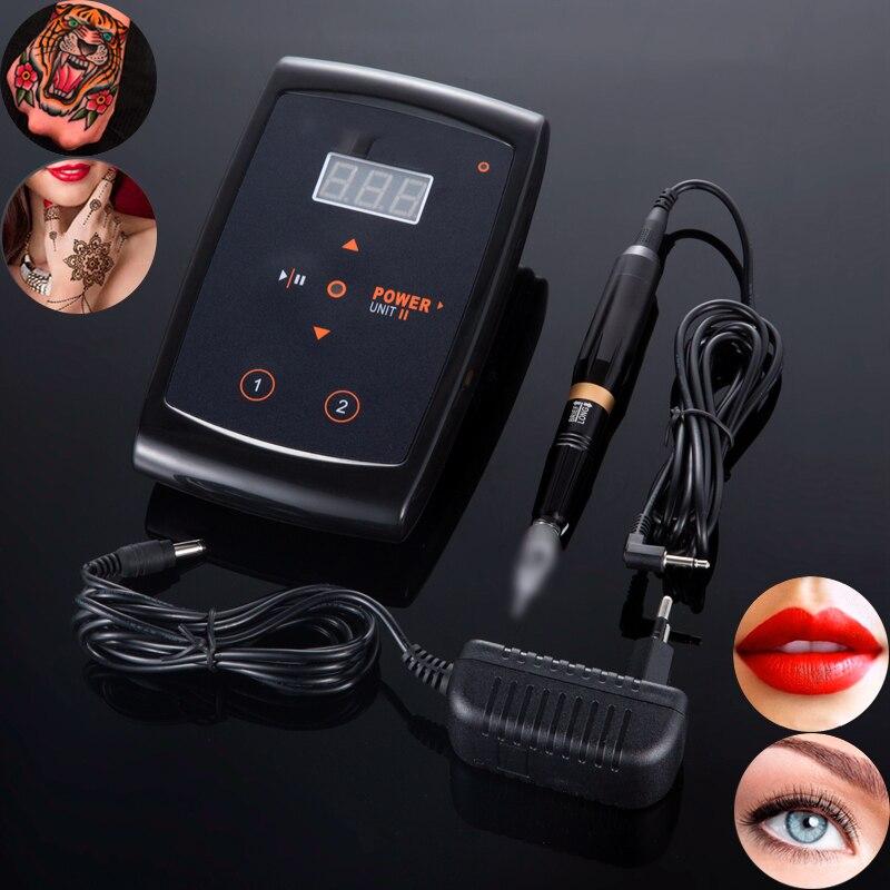 Professional Tattoo Gun Eyebrow Tattoo Machine Pen For Permanent Make Up Eyebrows Microblading Makeup Machine Kit  Swiss Motor